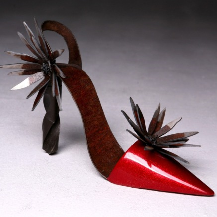 """Red Steel Hi-Heel"" by Diana Shampang-Voorhies. Photo: Overlay Photography"