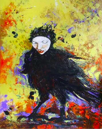 """Raven Queen"" by Eva Lewarne. Copyright © Eva Lewarne"