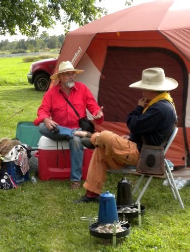 Rick Hunt and Ernie Sites at camp