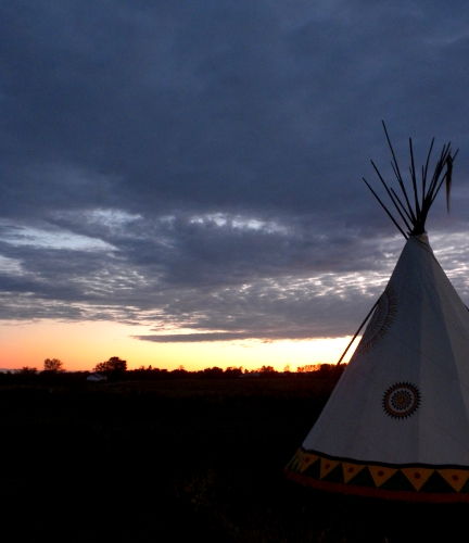 Teepee at Little Theater Pow Wow